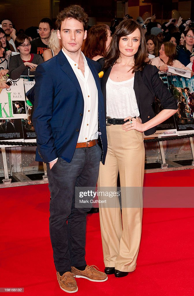 Sam Claflin And Laura Haddock Attend Marvel Avengers Assemble European Premiere At Vue Westfield On April 19, 2012 In London.