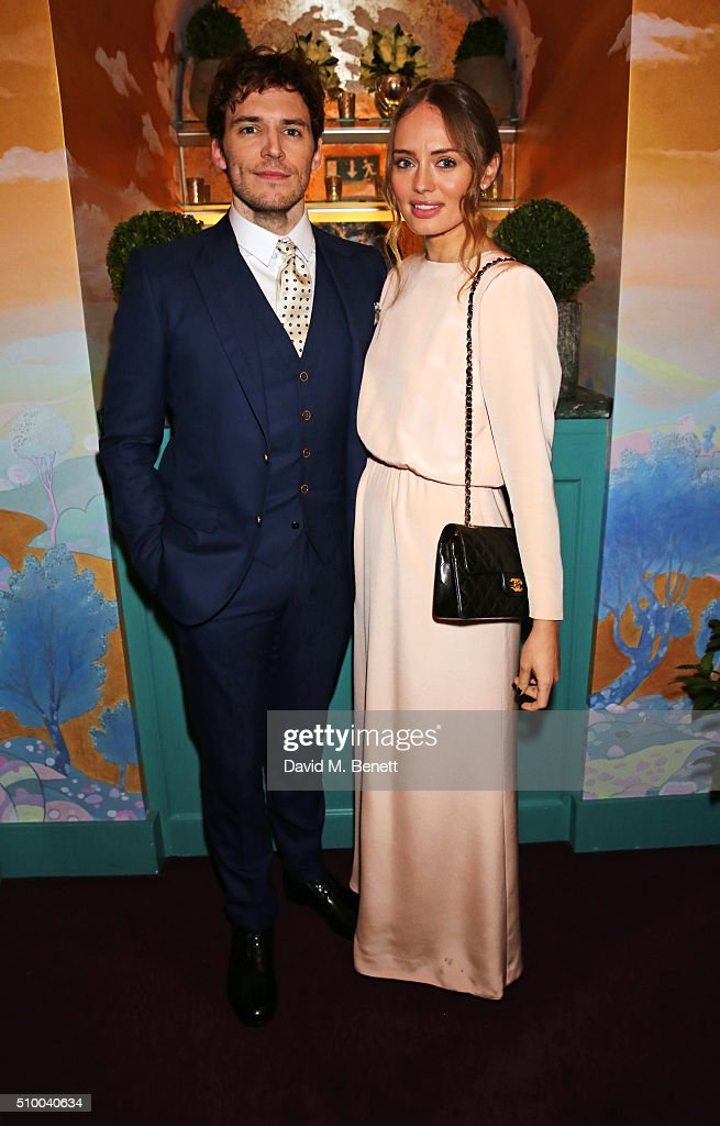 <a gi-track='captionPersonalityLinkClicked' href=/galleries/search?phrase=Sam+Claflin&family=editorial&specificpeople=7238693 ng-click='$event.stopPropagation()'>Sam Claflin</a> (L) and <a gi-track='captionPersonalityLinkClicked' href=/galleries/search?phrase=Laura+Haddock&family=editorial&specificpeople=4949007 ng-click='$event.stopPropagation()'>Laura Haddock</a> attend the Charles Finch and Chanel Pre-BAFTA cocktail party and dinner at Annabel's on February 13, 2016 in London, England.