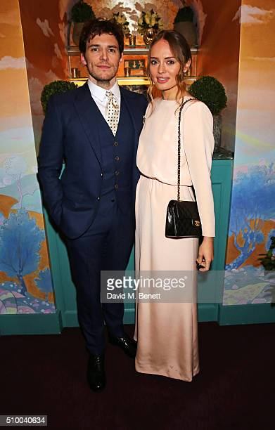 Sam Claflin and Laura Haddock attend the Charles Finch and Chanel PreBAFTA cocktail party and dinner at Annabel's on February 13 2016 in London...