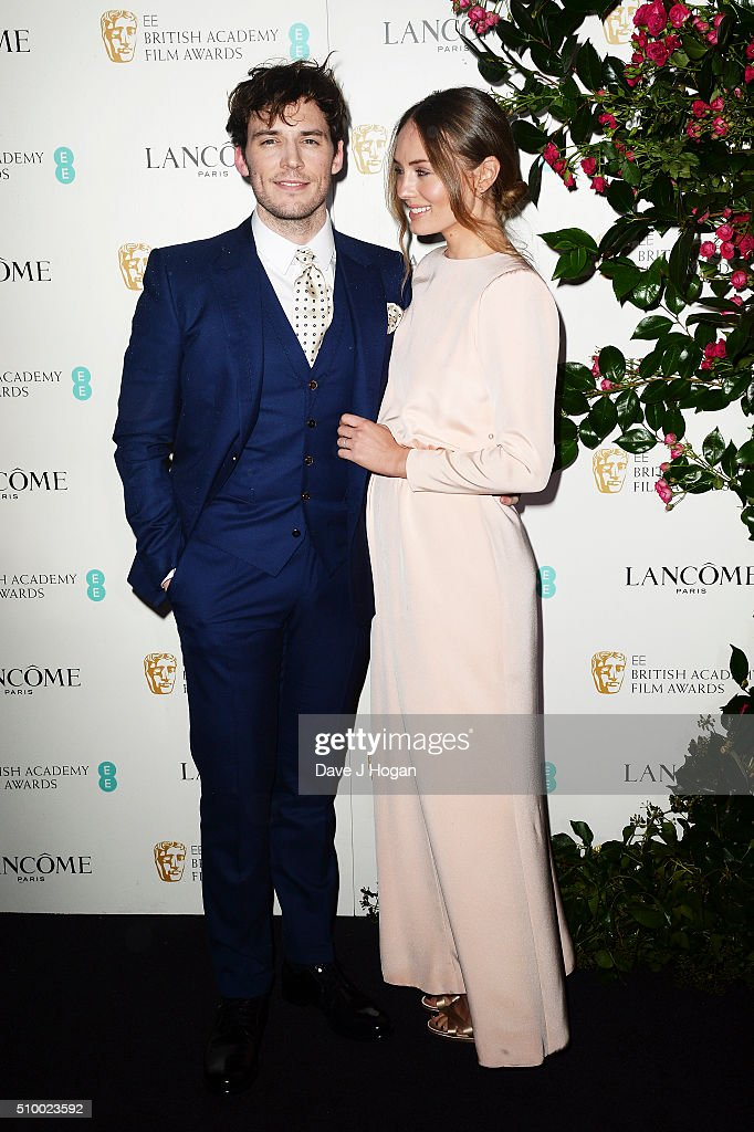 <a gi-track='captionPersonalityLinkClicked' href=/galleries/search?phrase=Sam+Claflin&family=editorial&specificpeople=7238693 ng-click='$event.stopPropagation()'>Sam Claflin</a> (L) and <a gi-track='captionPersonalityLinkClicked' href=/galleries/search?phrase=Laura+Haddock&family=editorial&specificpeople=4949007 ng-click='$event.stopPropagation()'>Laura Haddock</a> attend the Lancome BAFTA nominees party at Kensington Palace on February 13, 2016 in London, England.