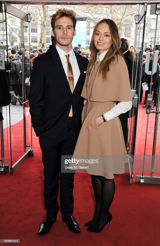 Sam Claflin (L) and Laura Haddock attend The Prince's Trust & Samsung Celebrate Success Awards at Odeon Leicester Square on March 26, 2013 in London, England.