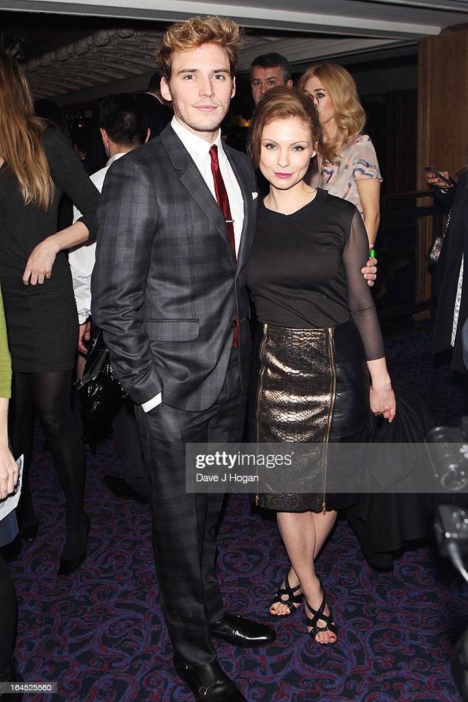 Sam Claflin and MyAnna Buring attends the Jameson Empire Awards 2013 at Grosvenor House Hotel on March 24, 2013 in London, England.