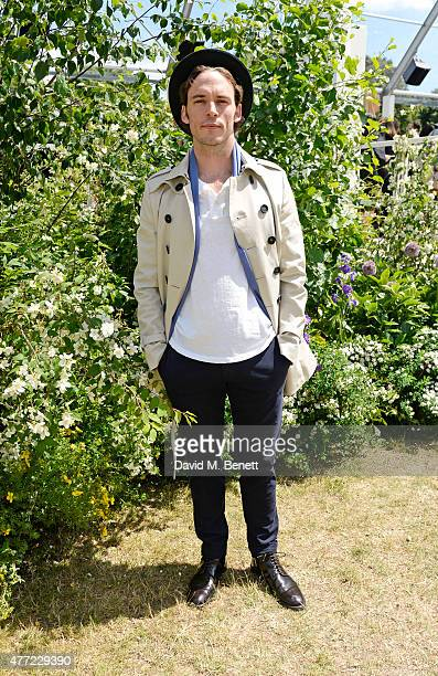 Sam Claflin arrives at the Burberry Menswear Spring/Summer 2016 show at Kensington Gardens on June 15 2015 in London England