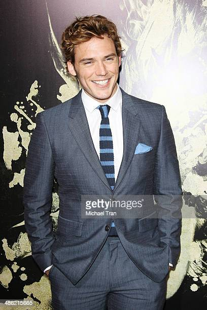 Sam Claflin arrives at the Los Angeles Premiere of 'The Quiet Ones' held at The Theatre at Ace Hotel on April 22 2014 in Los Angeles California