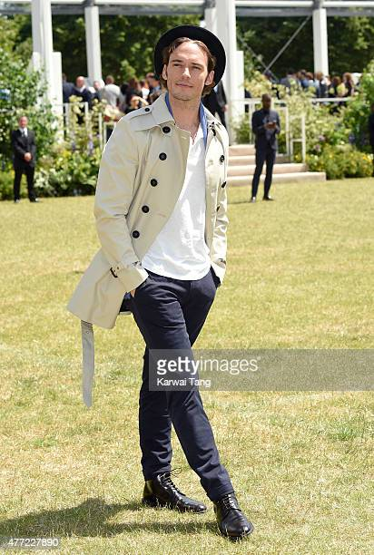 Sam Claflin attends the Burberry Prorsum show during The London Collections Men SS16 at on June 15 2015 in London England