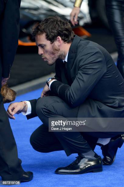 Sam Claflin attends the global premiere of 'Transformers The Last Knight' at Cineworld Leicester Square on June 18 2017 in London England