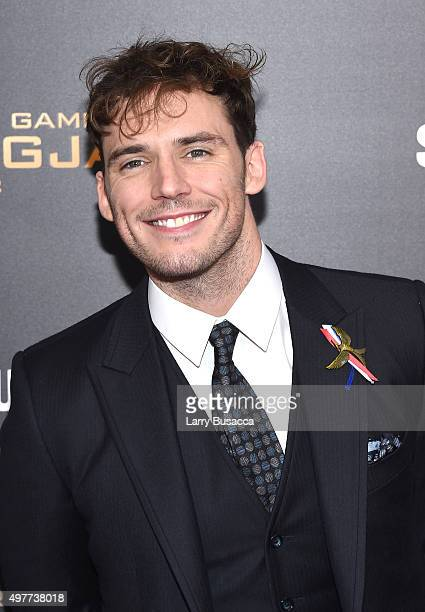 Sam Claflin attends 'The Hunger Games Mockingjay Part 2' New York Premiere at AMC Loews Lincoln Square 13 theater on November 18 2015 in New York City