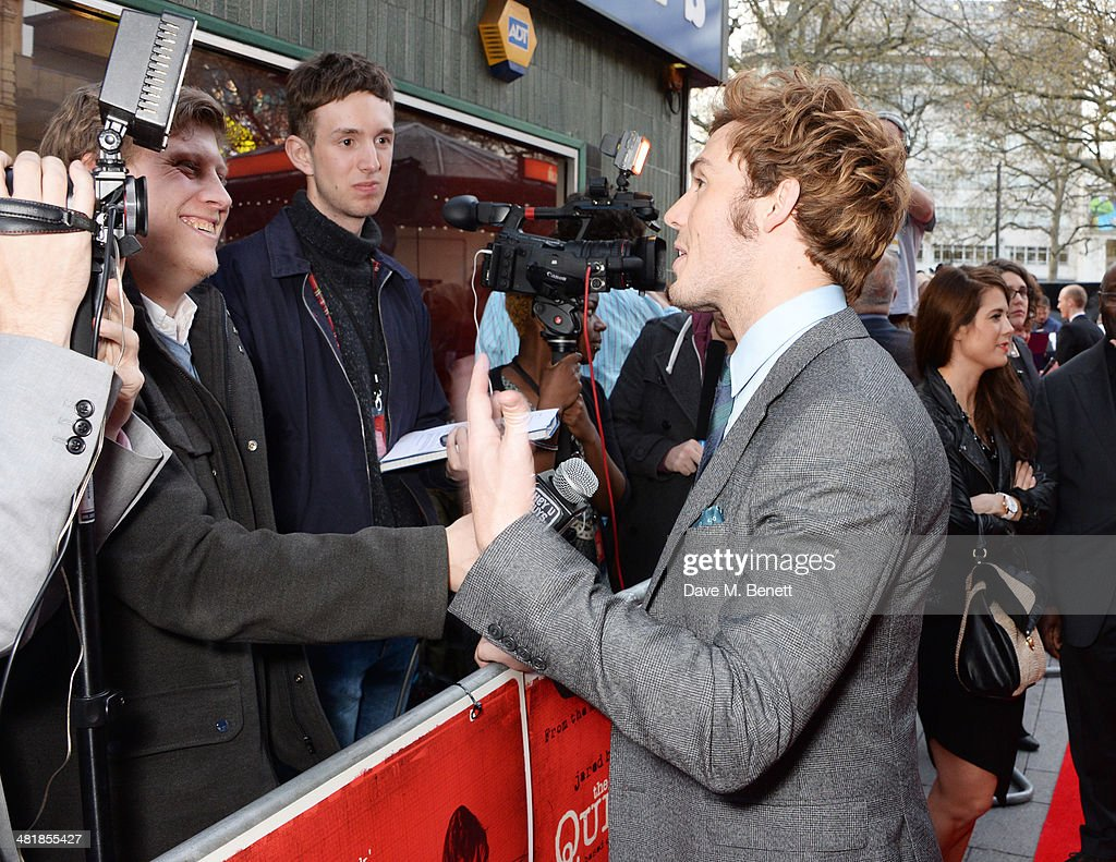 <a gi-track='captionPersonalityLinkClicked' href=/galleries/search?phrase=Sam+Claflin&family=editorial&specificpeople=7238693 ng-click='$event.stopPropagation()'>Sam Claflin</a> attends the World Premiere of 'The Quiet Ones' at the Odeon West End on April 1, 2014 in London, England.