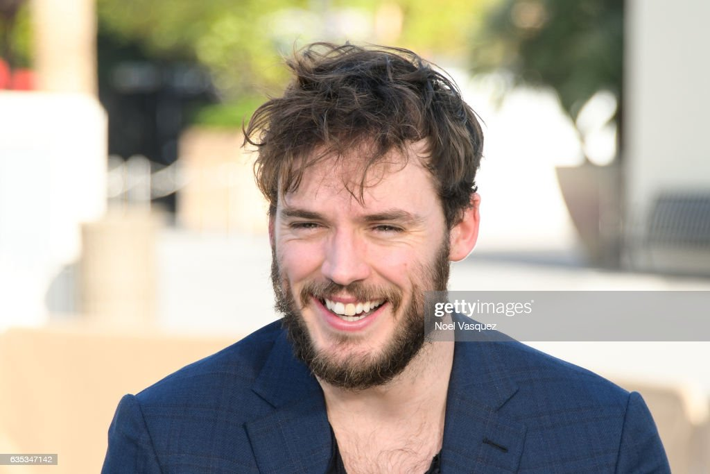 Sam Claflin visits 'Extra' at Universal Studios Hollywood on February 14, 2017 in Universal City, California.