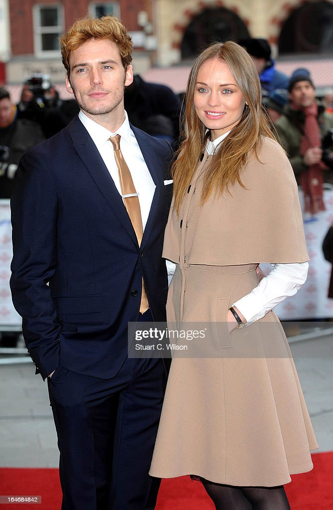 Sam Claiflin and <a gi-track='captionPersonalityLinkClicked' href=/galleries/search?phrase=Laura+Haddock&family=editorial&specificpeople=4949007 ng-click='$event.stopPropagation()'>Laura Haddock</a> attend the Prince's Trust Celebrate Success Awards at Odeon Leicester Square on March 26, 2013 in London, England.