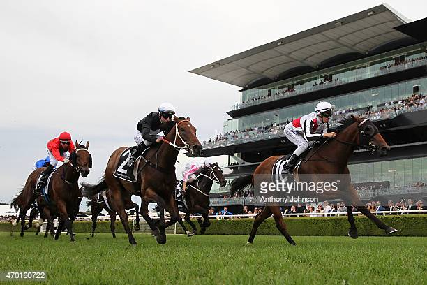 Sam Clipperton rides Gypsy Diamond to win race 5 The Japan Association Plate during Sydney Racing at Royal Randwick Racecourse on April 18 2015 in...