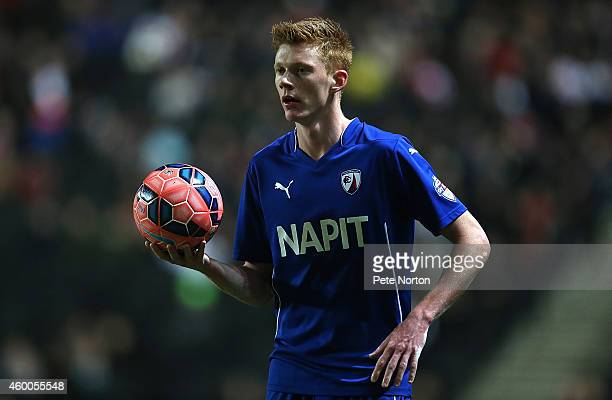 Sam Clucas of Chesterfield in action during the FA Cup Second Round match between MK Dons and Chesterfield at Stadium mk on December 6 2014 in Milton...