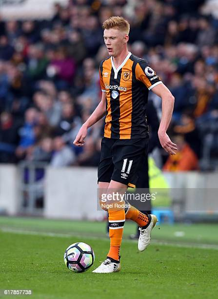 Sam Clucas of Hull City during the Premier League match between Hull City and Stoke City at KC Stadium on October 22 2016 in Hull England