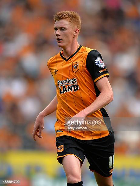 Sam Clucas of Hull City during the Sky Bet Championship match between Hull City and Huddersfield Town at KC Stadium on August 8 2015 in Hull England