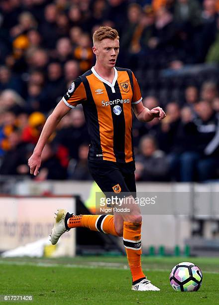 Sam Clucas of Hull City in action during the Premier League match between Hull City and Stoke City at the KCom Stadium on October 22 2016 in Hull...