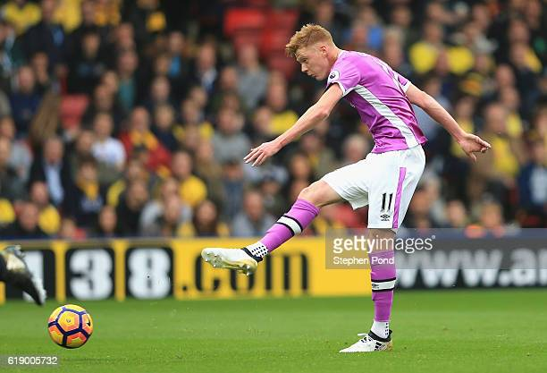 Sam Clucas of Hull City in action during the Premier League match between Watford and Hull City at Vicarage Road on October 29 2016 in Watford England