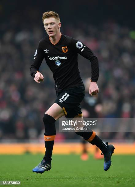 Sam Clucas of Hull City in action during the Premier League match between Arsenal and Hull City at Emirates Stadium on February 11 2017 in London...