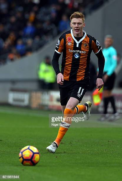 Sam Clucas of Hull of Hull City during the Premier League match between Hull City and Southampton at KC Stadium on November 6 2016 in Hull England