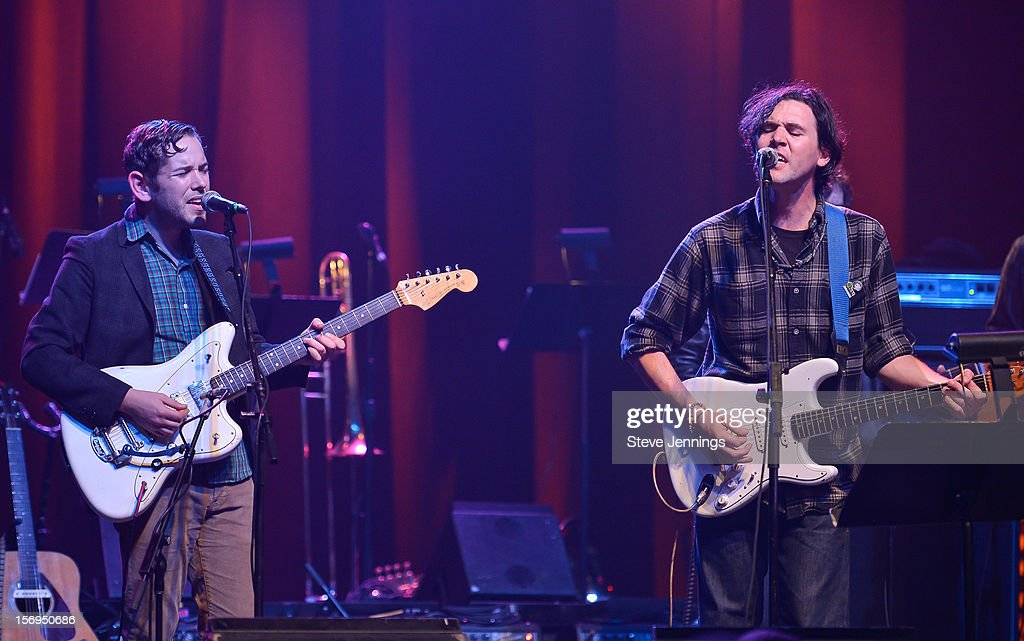 Sam Cohen and Cass McCombs perform at The Last Waltz Tribute Concert at The Warfield Theater on November 24, 2012 in San Francisco, California.