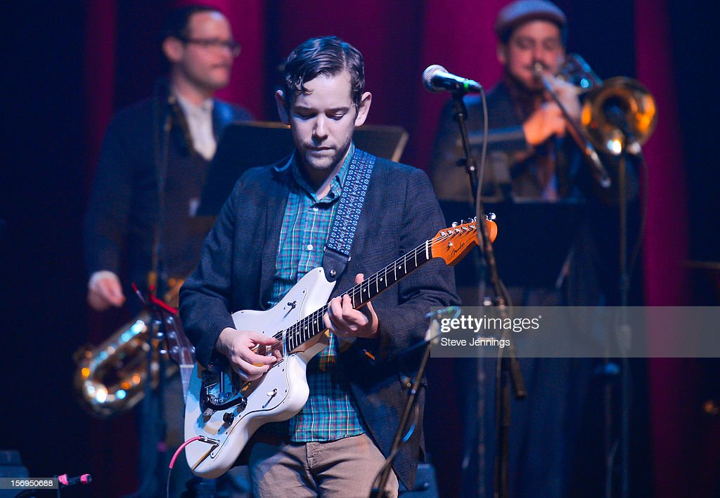 Sam Cohen performs at The Last Waltz Tribute Concert at The Warfield Theater on November 24, 2012 in San Francisco, California.
