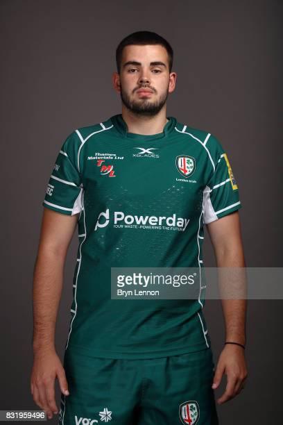 Sam Collingridge of London Irish poses for a portrait during the London Irish squad photo call for the 20172018 Aviva Premiership Rugby season on...