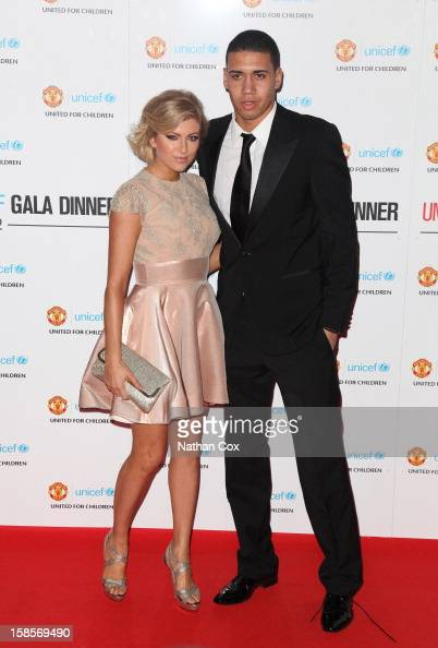 Sam Cooke and Chris Smalling attend the United for UNICEF Gala Dinner at Old Trafford on December 19 2012 in Manchester England