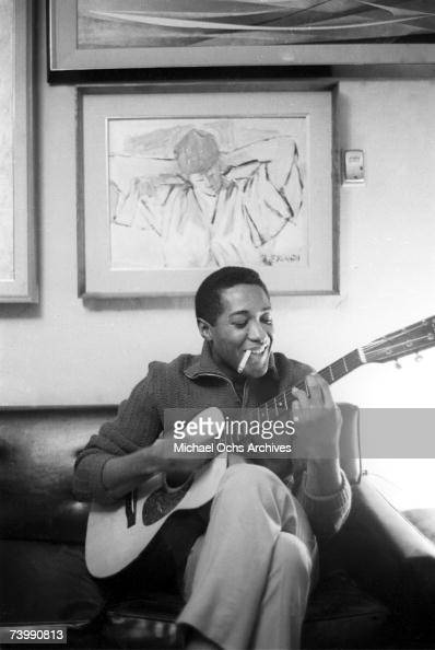 Sam Cooke plays guitar on November 30 1960 in Los Angeles California