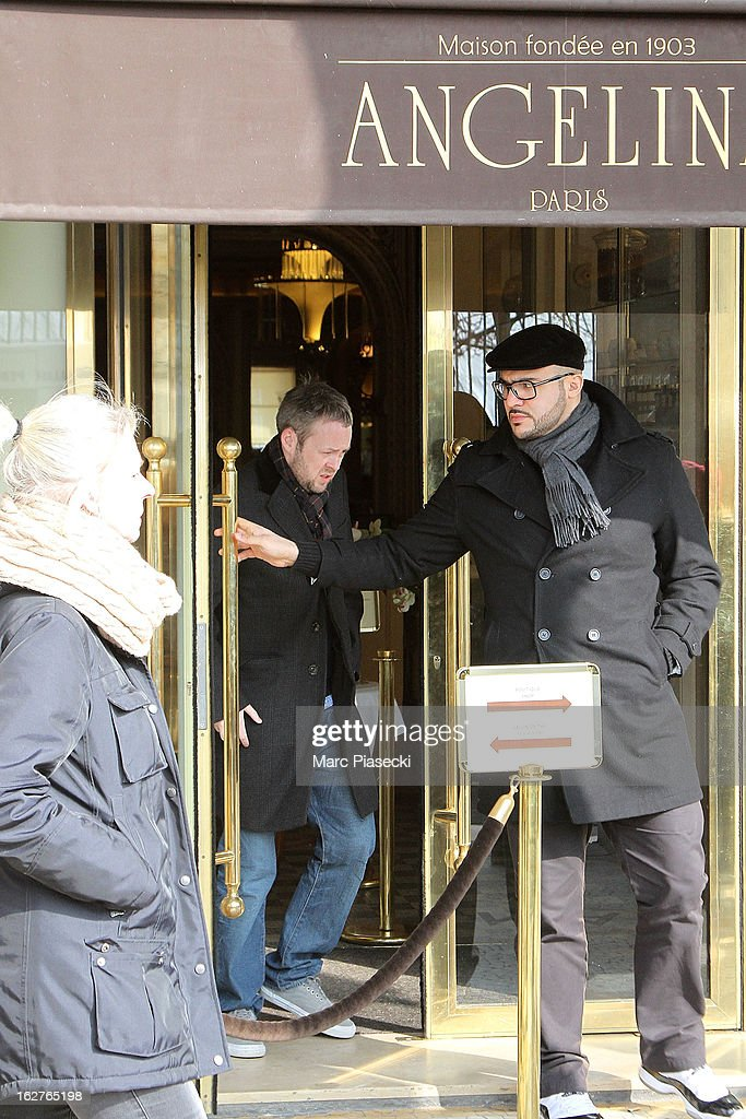 Sam Cooper is sighted leaving the 'Angelina' tea room on February 26, 2013 in Paris, France.
