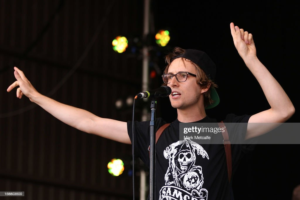 Sam Cromack of Ball Park Music performs live on stage at The Falls Music and Arts Festival on December 30, 2012 in Lorne, Australia.