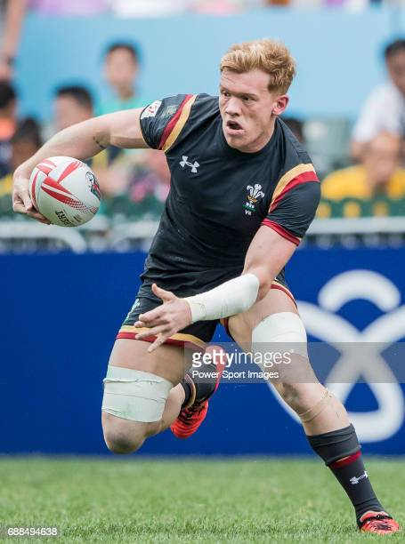 Sam Cross of Wales in action during their Pool C match between Wales and Japan as part of the HSBC Hong Kong Rugby Sevens 2017 on 08 April 2017 in...