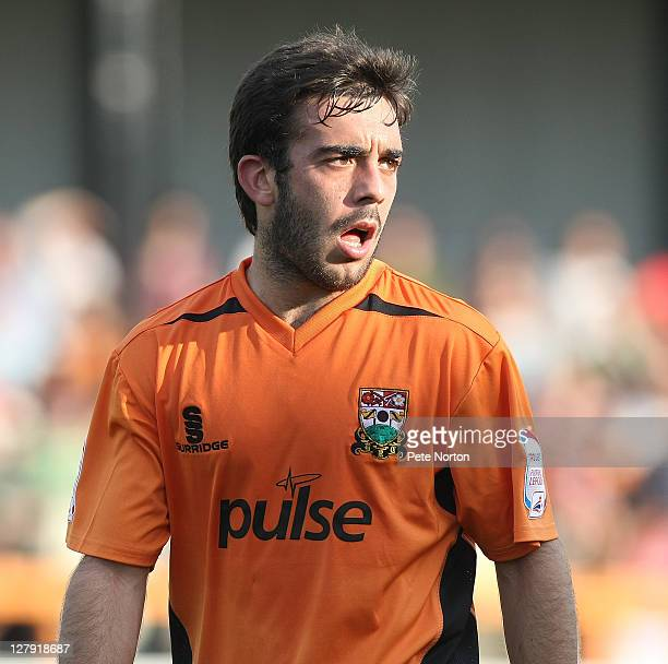 Sam Deering of Barnet in action during the npower League Two match between Barnet and Northampton Town at Underhill Stadium on October 1 2011 in...