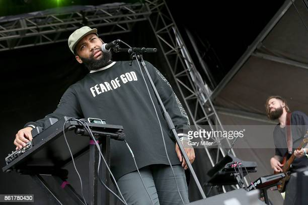 Sam Dew performs in concert on the last day of the Austin City Limits Music Festival at Zilker Park on October 15 2017 in Austin Texas