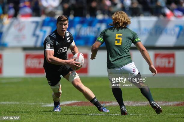 Sam Dickson of New Zealand during the match between South Africa and New Zealand at the HSBC Paris Sevens stage of the Rugby Sevens World Series on...