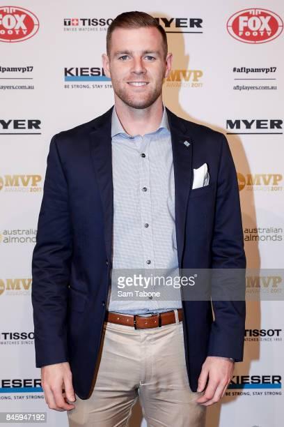Sam Docherty arrives ahead of the AFL Players' MVP Awards on September 12 2017 in Melbourne Australia
