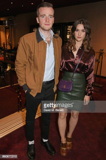 Sam Doyle and Sai Bennett attend the PORTER Lionsgate UK screening of 'Film Stars Don't Die In Liverpool' at Cineworld Leicester Square on October 12...