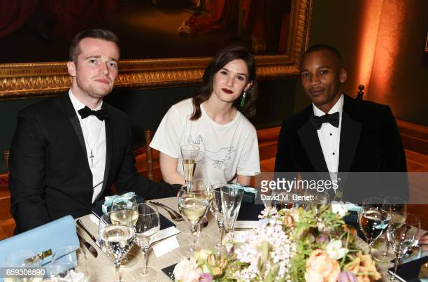 Sam Doyle Sai Bennett and Eric Underwood attend the Portrait Gala 2017 sponsored by William Son at the National Portrait Gallery on March 28 2017 in...