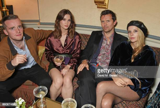 Sam Doyle Sai Bennett Robert Mongtomery and Greta Bellamacina attend the PORTER Lionsgate UK after party for 'Film Stars Don't Die In Liverpool' at...