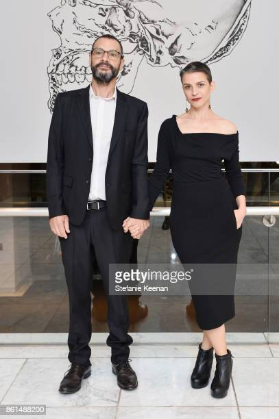 Sam Durant and Ana Prvacki at the Hammer Museum 15th Annual Gala in the Garden with Generous Support from Bottega Veneta on October 14 2017 in Los...