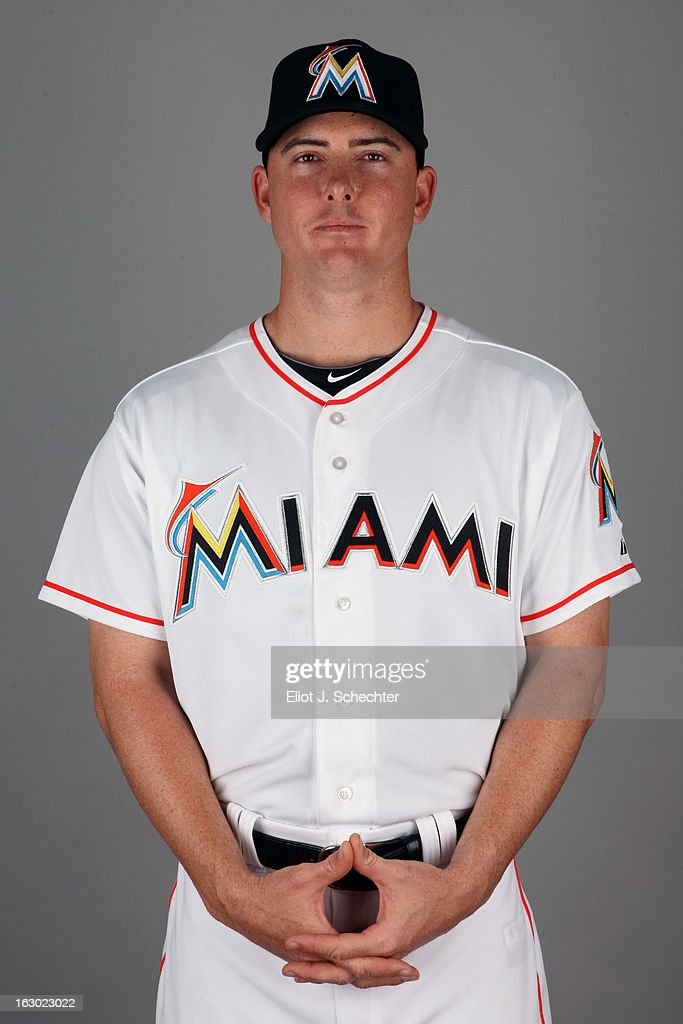 Sam Dyson #36 of the Miami Marlins poses during Photo Day on Friday, February 22, 2013 at Roger Dean Stadium in Jupiter, Florida.