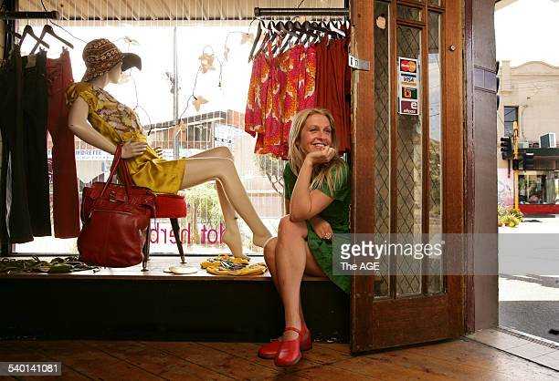 Sam Eastwood in her boutique fashion store Dot and Herbey in St Kilda Melbourne 21 December 2006 THE AGE Picture by SIMON SCHLUTER