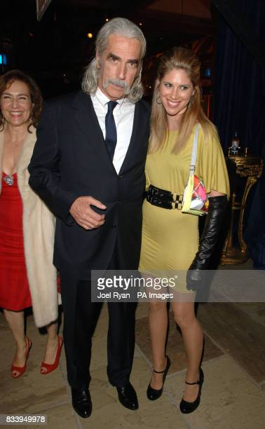 Sam Elliot and Cleo Elliott at the Golden Compass World Premiere afterparty at the Tobacco Docks in London