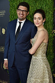 Sam Esmail and Emmy Rossum attend The 75th Annual Peabody Awards Ceremony at Cipriani Wall Street on May 20 2016 in New York City