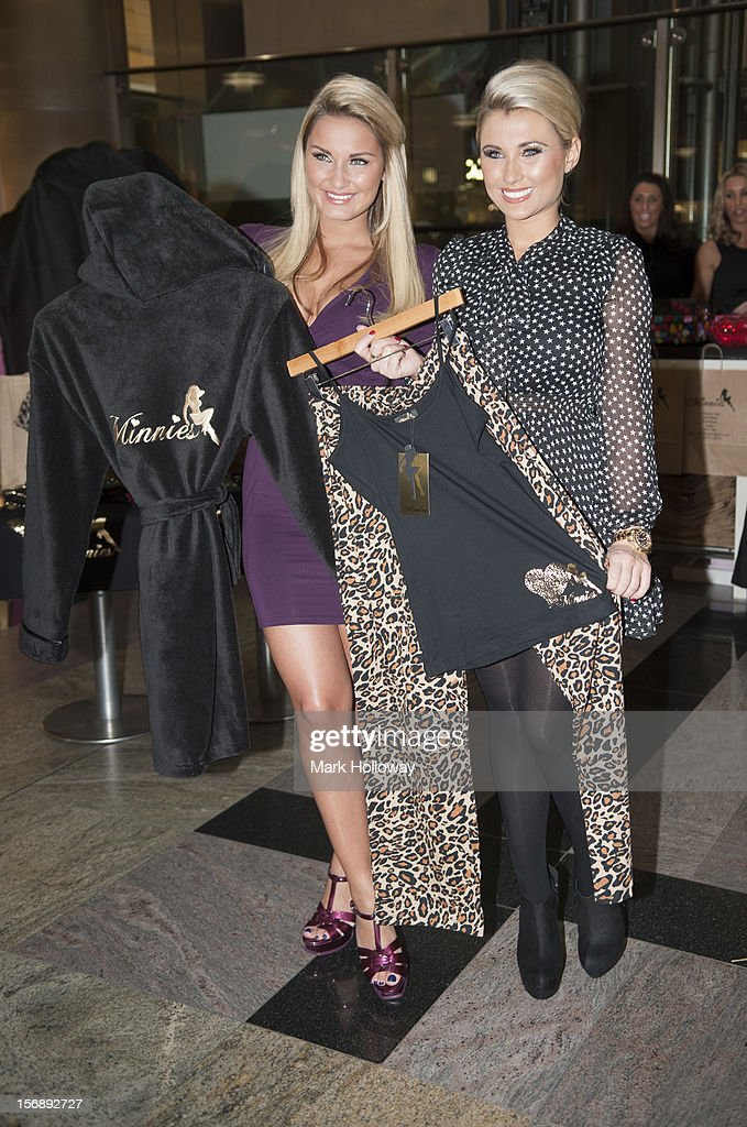 Sam Faiers and Billie Faiers launch their new pop Up Shop called Minnies Boutique at West Quay on November 24, 2012 in Southampton, England.