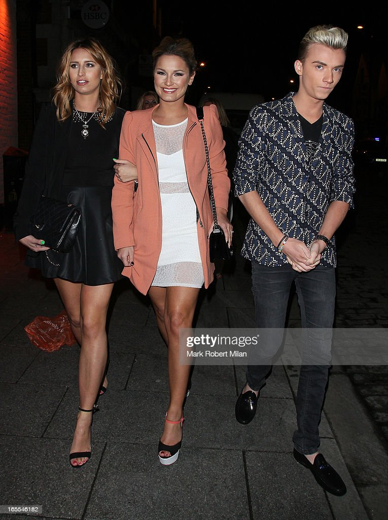 <a gi-track='captionPersonalityLinkClicked' href=/galleries/search?phrase=Sam+Faiers&family=editorial&specificpeople=7324872 ng-click='$event.stopPropagation()'>Sam Faiers</a> and Harry Derbridge at the Sugar Hut Brentwood on April 4, 2013 in London, England.