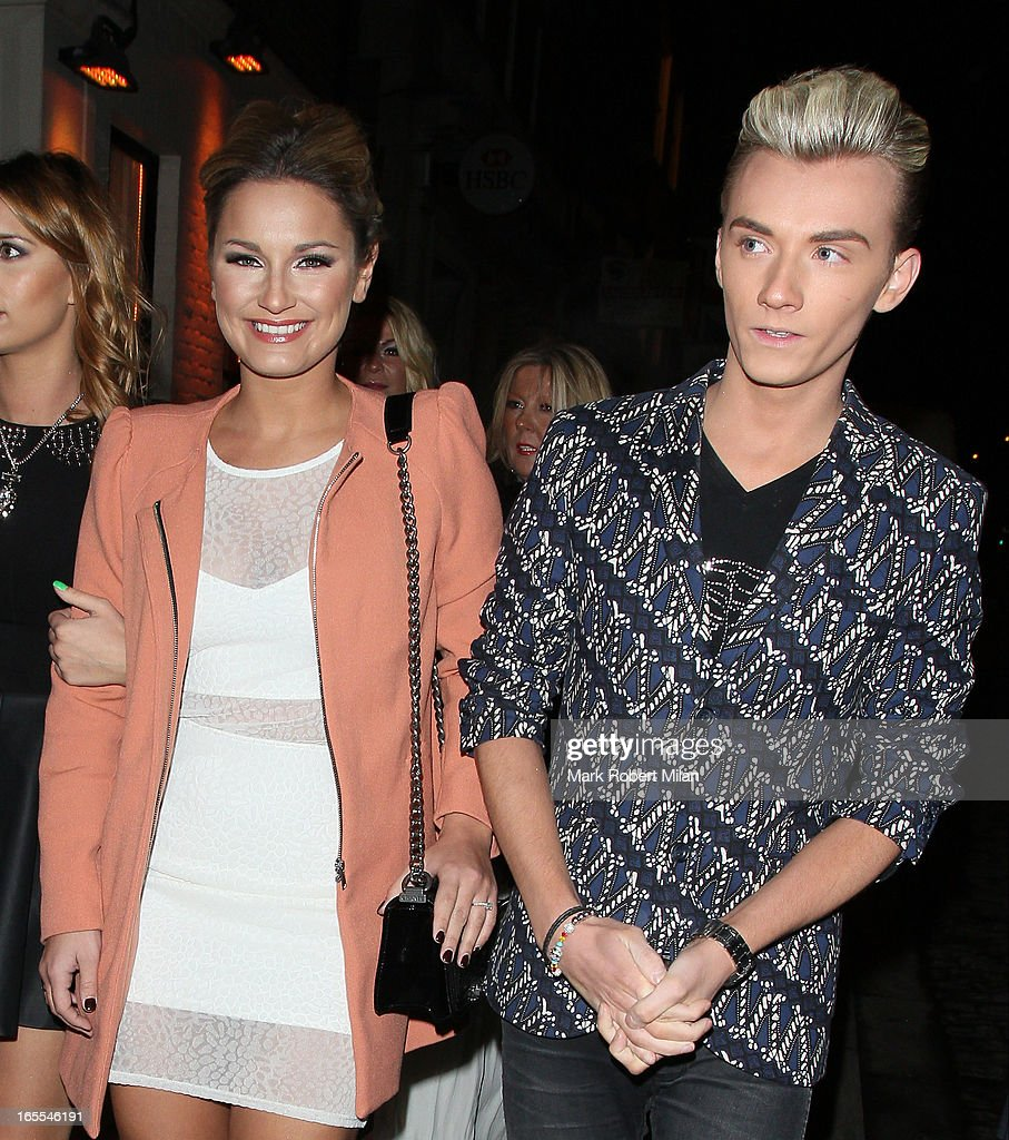 Sam Faiers and Harry Derbridge at the Sugar Hut Brentwood on April 4, 2013 in London, England.