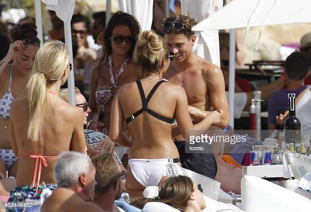 Sam Faiers and Joey Essex are sighted at the Ocean Beach Ibiza on August 10 2014 in Ibiza Spain
