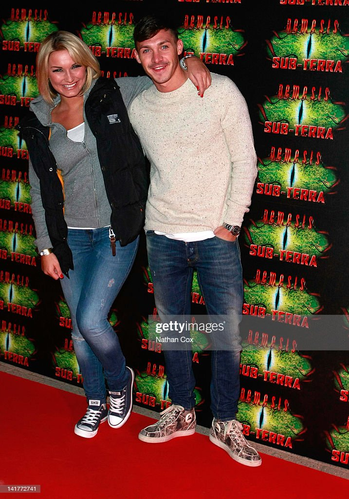 Sam Faiers and Kirk Norcross attend the launch of Alton Towers theme park's new attraction - Nemesis Sub-Terra at Alton Towers on March 23, 2012 in Alton, England.
