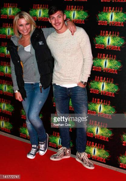 Sam Faiers and Kirk Norcross attend the launch of Alton Towers theme park's new attraction Nemesis SubTerra at Alton Towers on March 23 2012 in Alton...