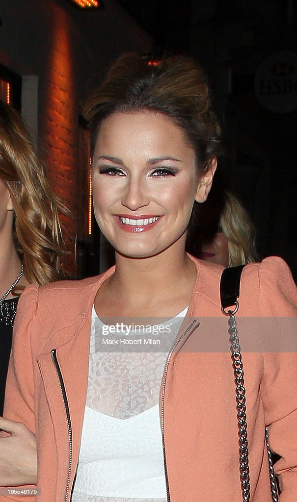 Sam Faiers at the Sugar Hut Brentwood on April 4, 2013 in London, England.