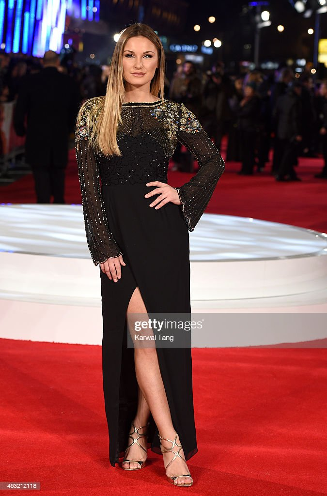 Sam Faiers attends a special screening of 'Focus' at Vue West End on February 11, 2015 in London, England.